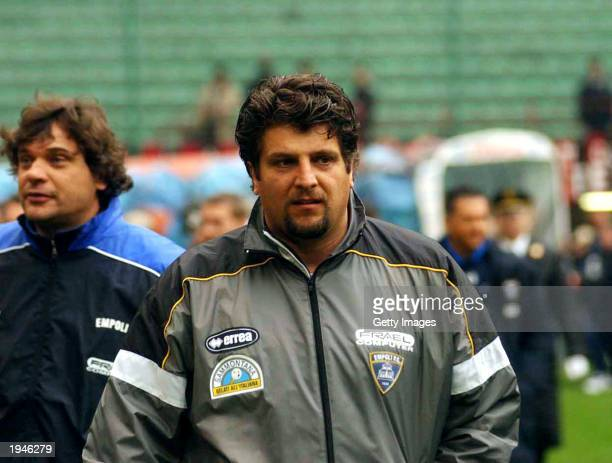 Portrait of Empoli coach Silvio Baldini taken before the Serie A match between AC Milan and Empoli, played at the Giuseppe Meazza San Siro Stadium,...