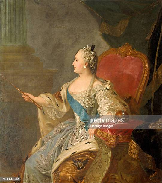 Portrait of Empress Catherine II 1763 Found in the collection of the State Tretyakov Gallery Moscow