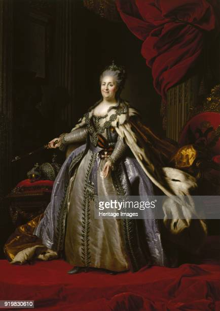 Portrait of Empress Catherine II 1780s Found in the collection of State Hermitage St Petersburg