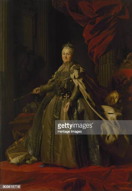Portrait of Empress Catherine II Found in the Collection of State Hermitage St Petersburg