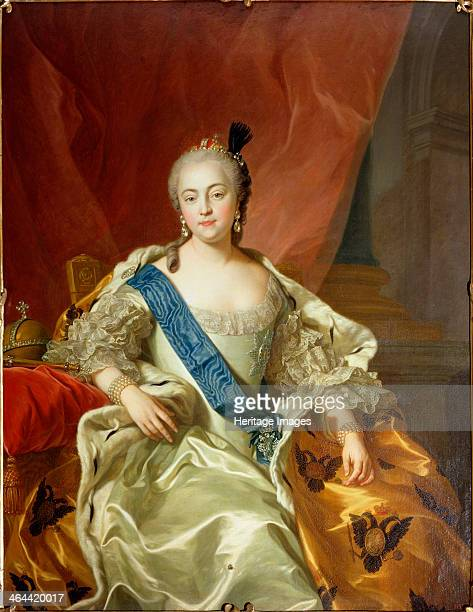 'Portrait of Empress Elisabeth Petrovna' 1760 The second daughter of Peter the Great and Catherine I Elizabeth of Russia became empress in 1741 when...