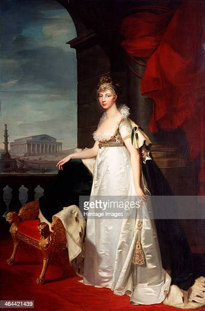 'Portrait of Empress Elizabeth Alexeievna' 1805 German princess Louise of Baden married the future Tsar Alexander I of Russia in 1793 Found in the...