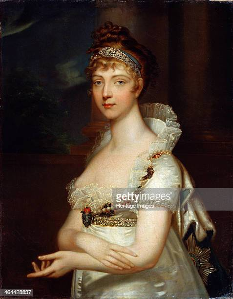 'Portrait of Empress Elizabeth Alexeievna' late 18th or early 19th century German princess Louise of Baden married the future Tsar Alexander I of...