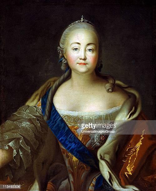 Portrait of Empress Elizabeth Petrovna' Ivan Argunov Russian painter Elizabeth Empress of Russia from 1741 daughter of Peter the Great Halflength...