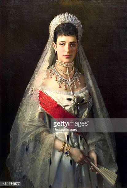 'Portrait of Empress Maria Feodorovna Princess Dagmar of Denmark' Kramskoi Ivan Nikolayevich Found in the collection of the State Russian Museum St...