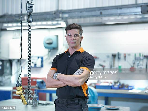 Portrait of engineer in engineering factory