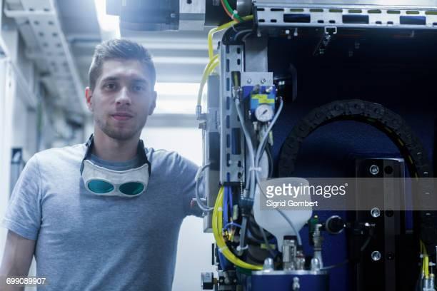Portrait of engineer in engineering plant