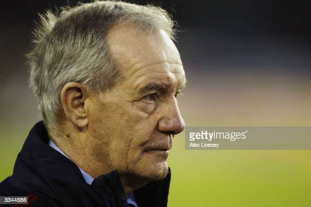 Portrait of England assistant coach Tord Grip taken during the International Friendly match between Sweden and England held on March 31 2004 at...