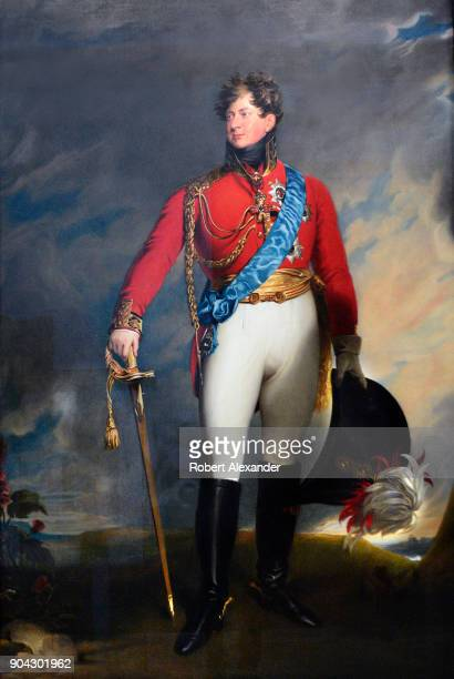 A portrait of England's King George IV when he was the Prince of Wales painted in 1815 by an unknown artist is on display at the National Portrait...