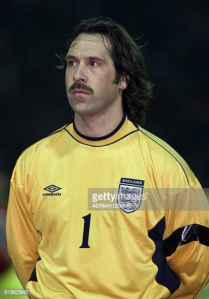 Portrait of England's national soccer team goalkeeper David Seaman taken 23 February 2000 at Wembley stadium in London before the start of the...