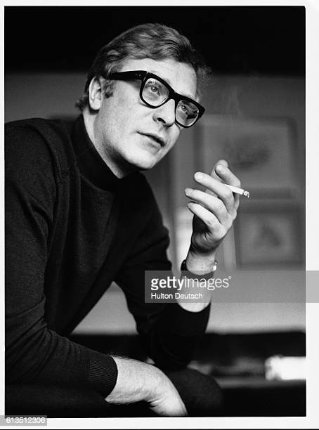 Portrait Of English Actor Michael Caine.