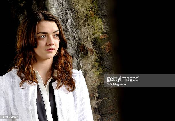 Portrait of English actress Maisie Williams taken on March 7 2013 Williams is best known for starring in HBO's television fantasy series Game Of...