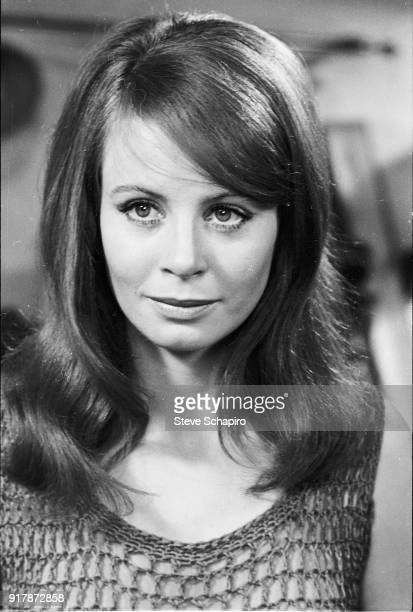 Portrait of English actress Sarah Miles on the set of the film 'BlowUp' London England 1965