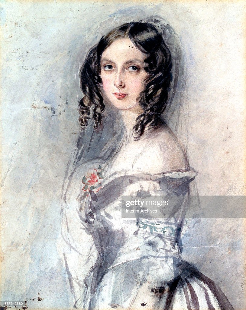 Portrait of English author and mathematician Ada Byron (later Lovelace, 1915 - 1852), circa 1835.