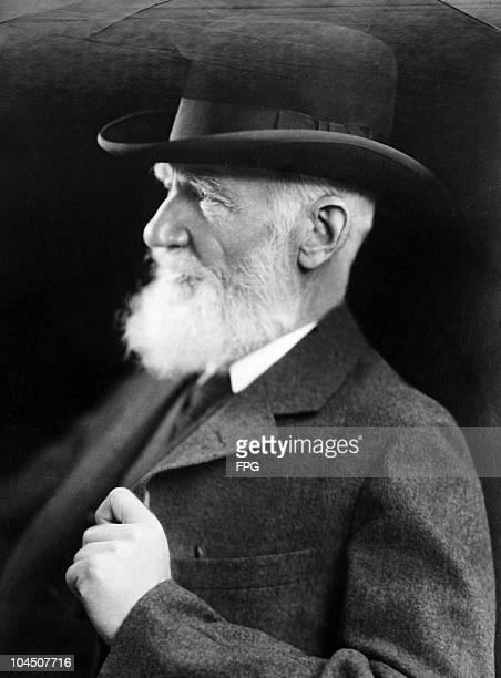 A portrait of English author George Bernard Shaw circa 1940s