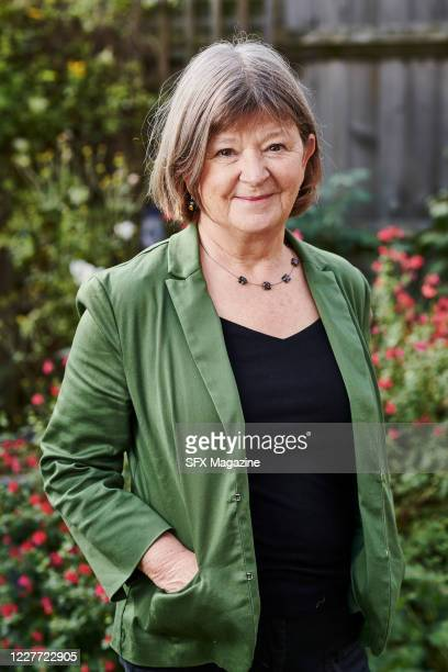Portrait of English author Jane Rogers photographed at her home in Oxfordshire, England, on October 2, 2019. Rogers is best known for winning the...