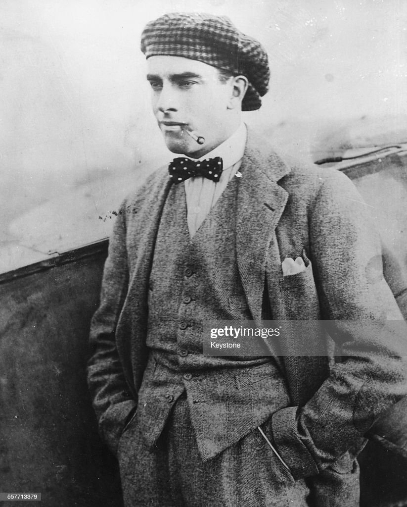 Portrait of English aviator Claude Grahame-White at his