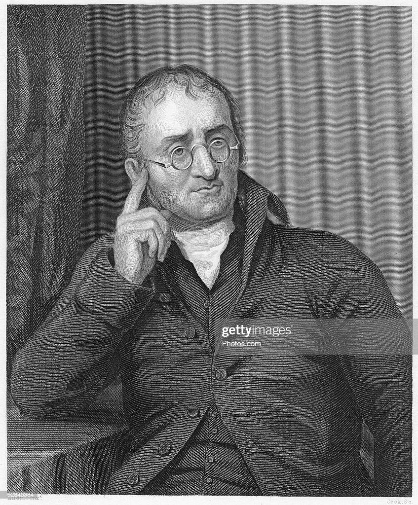 Portrait of English chemist John Dalton : Stock Photo