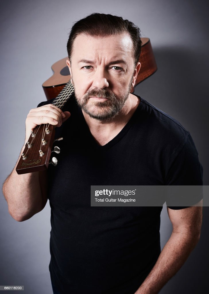 Portrait of English comedian, writer and director Ricky Gervais, photographed in London while promoting his 2016 film 'David Brent: Life On The Road', taken on July 5, 2016.