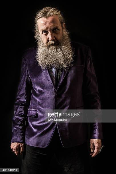 Portrait of English comic book writer Alan Moore taken on September 6 2013 Moore is often considered the finest writer in the comics medium and is...