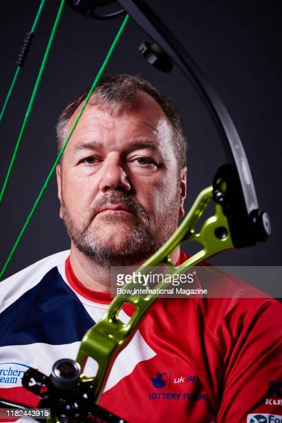 Portrait of English competitive archer John Stubbs MBE photographed in Bath England on June 2 2017 Stubbs is an internationallyrecognised athlete and...
