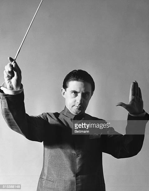 Portrait of English conductor John Barbirolli. Undated photograph.