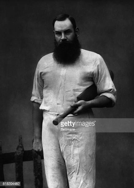 Portrait of English cricketer William Gilbert Grace . Photograph, 1887. BPA2