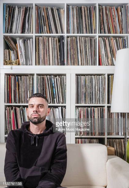 Portrait of English DJ, producer and musician Ryan Aitchison, better known by his recording name Mella Dee, photographed at his studio in London on...