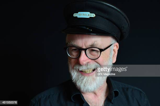 Portrait of English fantasy author Sir Terry Pratchett photographed to promote the 40th novel in his Discworld series Raising Steam on September 18...