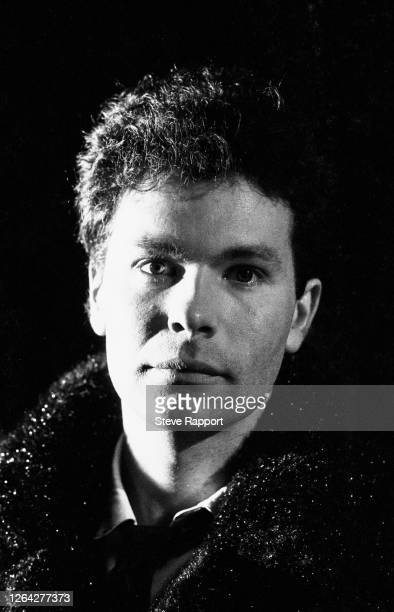 Portrait of English film and music video director Julien Temple, Theatre Royal Stratford, 2/26/1982. He was on the set of the group ABC's 'Poison...