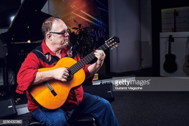 Portrait of English fingerstyle guitarist Richard Smith, photographed in Milton Keynes, England, on November 13, 2019.