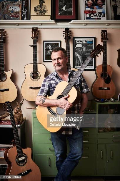 Portrait of English folk musician Martin Simpson, photographed at his home in Sheffield, England, on March 1, 2019.