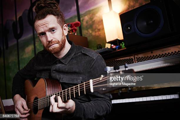 Portrait of English folk rock musician Newton Faulkner photographed at his studio in east London on October 22 2015