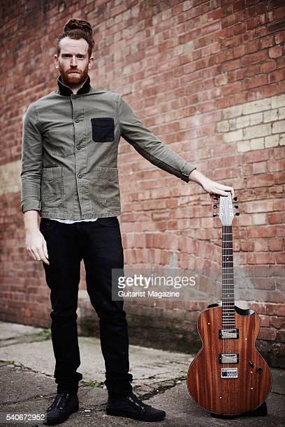 Portrait of English folk rock musician Newton Faulkner photographed outside his studio in east London on October 22 2015