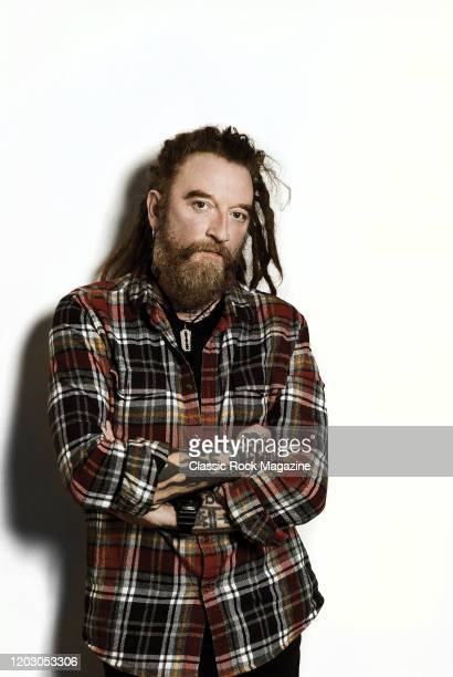Portrait of English hard rock musician Ginger Wildheart, photographed at the Columbia Hotel in London, on January 29, 2018.