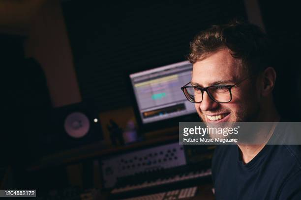 Portrait of English musician and DJ Josh Butler photographed at his studio in Warrington England on May 20 2019