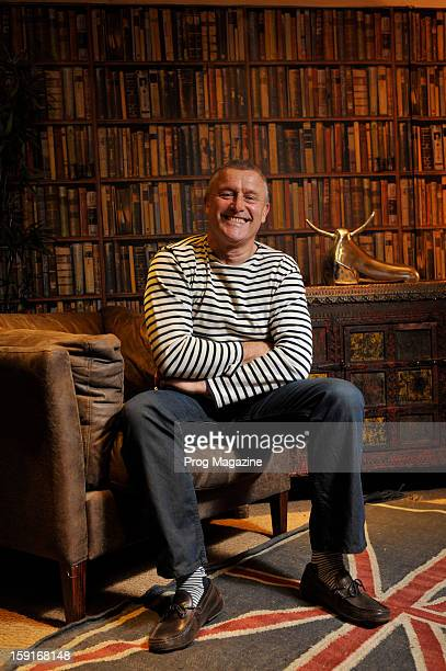 Portrait of English musician Carl Palmer, taken on May 12, 2012. Palmer is best known as a drummer and percussionist with several successful...