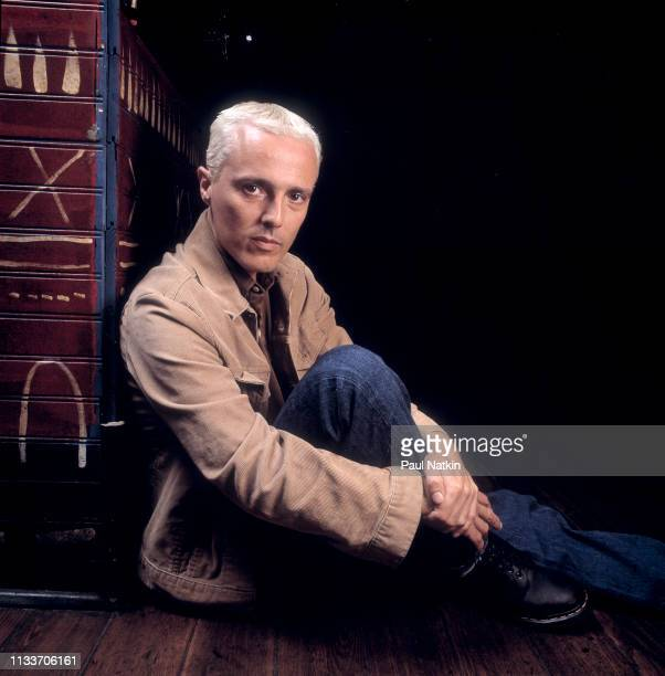 Portrait of English musician Curt Smith at the House of Blues in Chicago, Illinois, June 2, 1998.