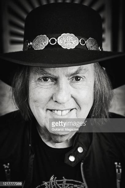 Portrait of English musician Dave Hill guitarist with rock group Slade photographed in Wolverhampton England on March 27 2019