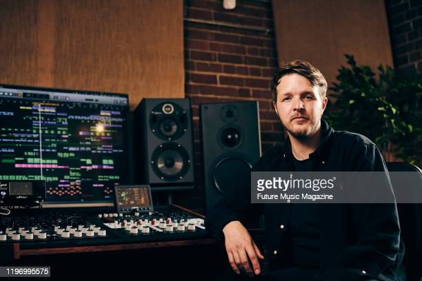 Portrait of English musician DJ and producer Mark Dobson better known by his recording name Ambassadeurs photographed at his studio in London on May...