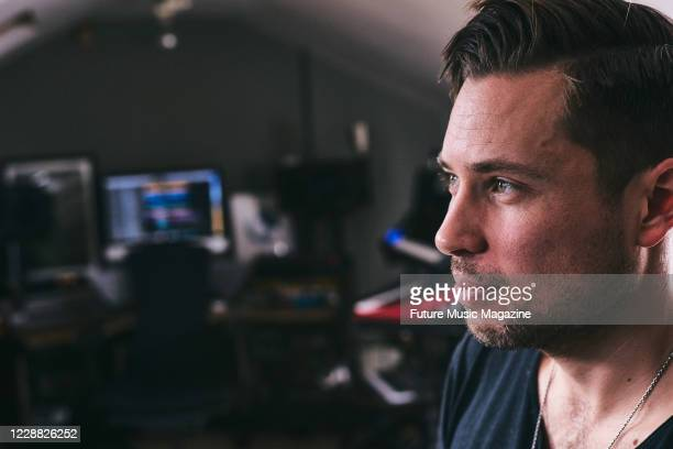 Portrait of English musician, DJ and producer Tim Green, photographed at his studio in London, on March 12, 2020.