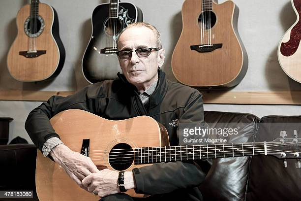 Portrait of English musician Francis Rossi vocalist and guitarist with rock group Status Quo photographed at his home in Purley London on August 26...