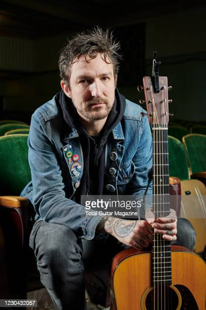 Portrait of English musician Frank Turner, photographed before a live performance at The Forum in Bath, on March 13, 2020.