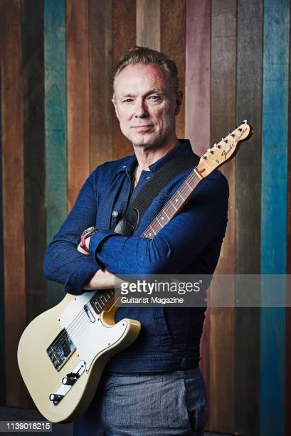 Portrait of English musician Gary Kemp photographed in Brentford on June 29 2018 Kemp is best known as a guitarist with new wave rock group Spandau...