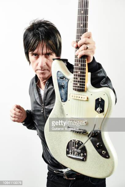Portrait of English musician Johnny Marr photographed at his studio in Manchester England on April 30 2018
