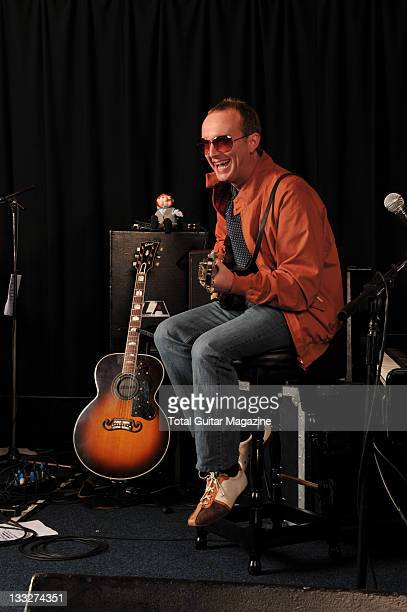 Portrait of English musician Steve Cradock frontman with indie group Ocean Colour Scene taken on January 19 2009 in London