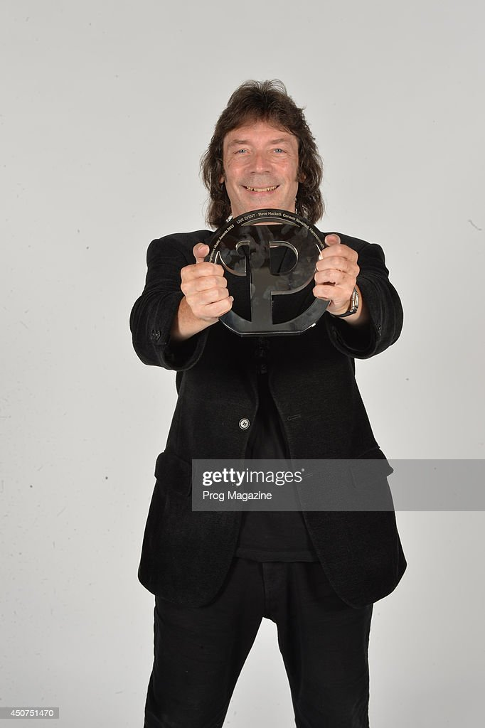 Portrait of English musician Steve Hackett photographed after winning the Live Event Award at the 2013 Progressive Music Awards at Kew Gardens in London, on September 3, 2013.