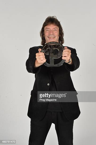 Portrait of English musician Steve Hackett photographed after winning the Live Event Award at the 2013 Progressive Music Awards at Kew Gardens in...