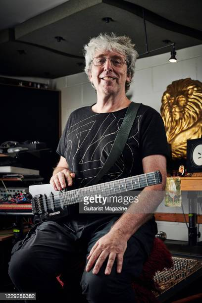 Portrait of English musician Steve Hillage, photographed at his studio in London, England, on September 18, 2019. Hillage is best known as a member...