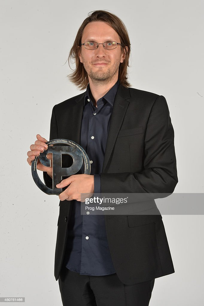 Portrait of English musician Steven Wilson photographed after winning the Best Album Award at the 2013 Progressive Music Awards at Kew Gardens in London, on September 3, 2013.